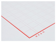 罫線・ペンのインクの色が映える白の紙