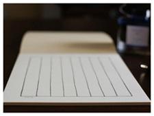 万年筆での筆記を想定して開発した紙